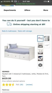 IKEA trundle day bed
