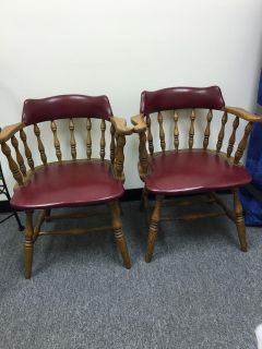 Solid wood chairs - 4 available