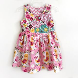 Jelly The Pug Girls Dress Easter Bunny Chick Floral Cotton 24 Months