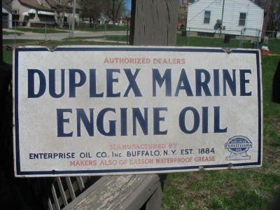 1920's Duplex Marine Engine Oil sign