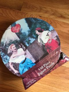Antique I love you Lucy grape stomping puzzle