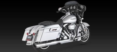 Purchase Vance & Hines Twin Slash Round Slip-On Exhaust 2010 Harley Davidson FLTRX FLHX motorcycle in Ashton, Illinois, US, for US $249.95