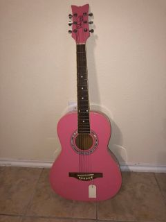 Pink Acoustic guitar !