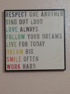 Set of 5 inspirational quote wall art pictures.