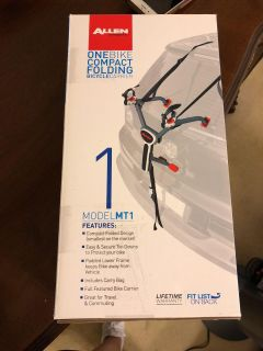 NIB One Bike Compact Folding Bicycle Carrier - Allen Sports