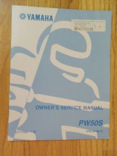 Find GENUINE YAMAHA PW50S MOTORCYCLE SERVICE MANUAL NEW motorcycle in Prior Lake, Minnesota, United States, for US $19.99