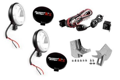 Purchase Rugged Ridge 12495.07 - Windshield Fog Light Kit w Stainless Steel Mounts motorcycle in Suwanee, Georgia, US, for US $195.08