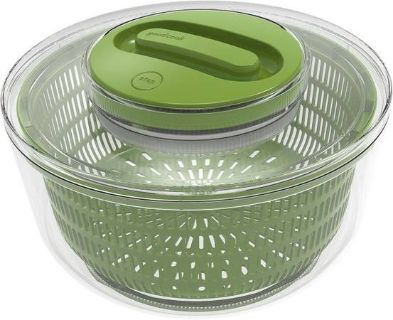 New! Good Cook Touch Salad Spinner Clear w/Green Accents BPA Free