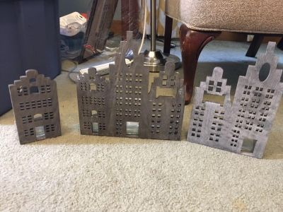 Cityscape candle holders