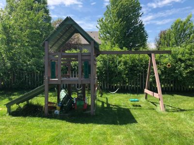 Wood play set