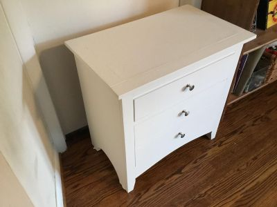 Two-Drawer Night Stand Or Side Table