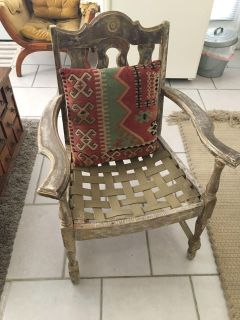 Unusually fabricated antique chair