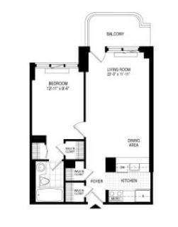 $7740 1 apartment in Midtown-West