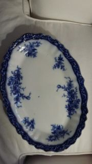 """Antique Flo Blue 15"""" platter rare and hard to find"""