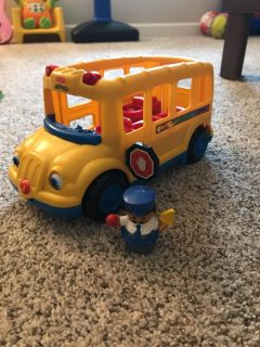 Little People school bus and driver.