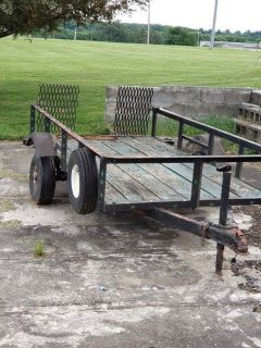 Utility Trailer with ramp. 4 FT X 8 FT.