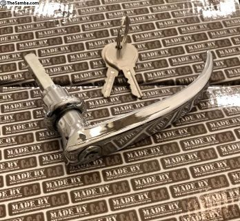 German quality cargo door handle w/2 E profile key