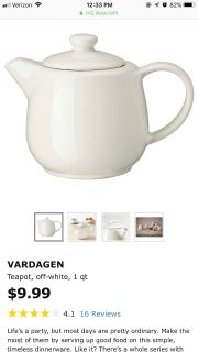 IKEA tea pot