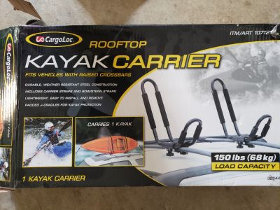 Roof Top Mounted Kayak Paddle Board Carrier
