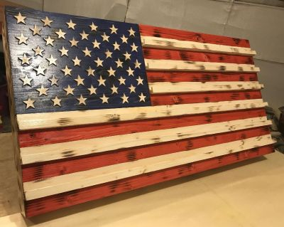 Handmade/hand crafted American flags