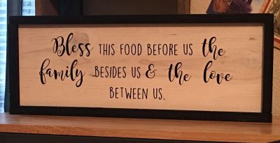 Bless this food before us...