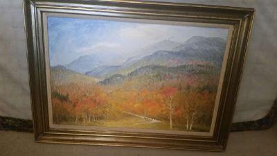 Original Oil Painting of New Hampshire