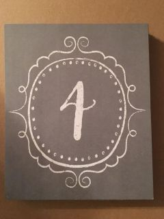 Table Numbers Cards