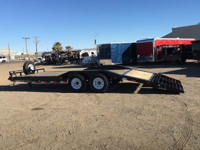 Super-Wide Equipment Trailer with Monster Ramps, 7x20 Excavator Hauler, Heavy Duty Flatbed Trailer,