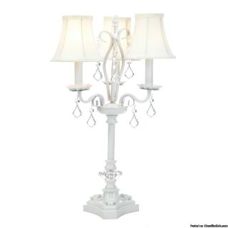 ON SALE!!! WHITE CHANDELIER TABLE LAMP...WAS $130.00