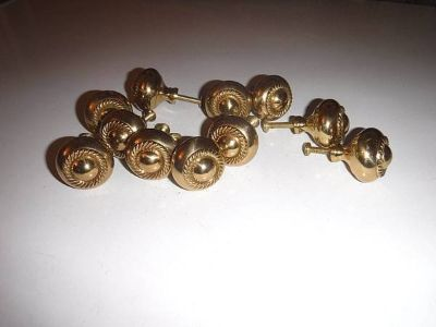 Dresser Drawer Cabinet Knobs Gold Tone - 11 total