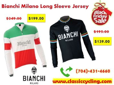 Huge Sale on Bianchi Milano Vintage Long Sleeve Cycling Jersey