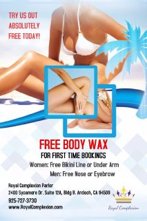 Free Body Waxing In Antioch by a Professional Esthetician
