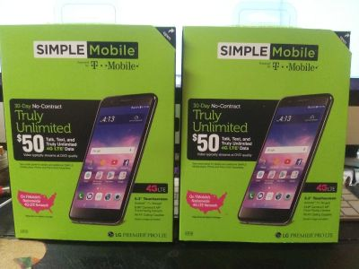 2 phones with 3 months Unlimited Service each