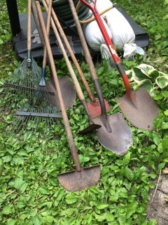 Collection used yard tools. Lots of life left.