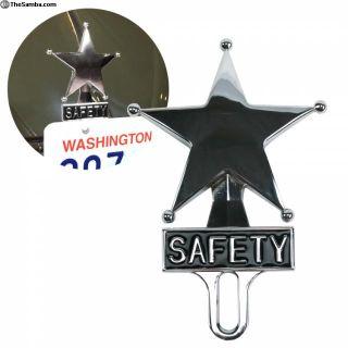 Safety Star Chromed License Plate Topper
