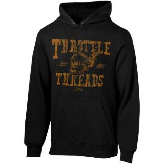Find Throttle Threads Flying Skull Mens Pullover Hoodie Black 2XL motorcycle in Holland, Michigan, United States, for US $53.65