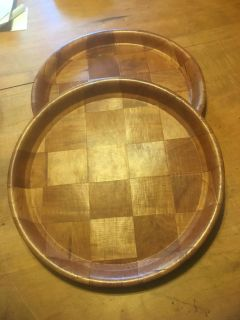 Set of two Wooden serving trays