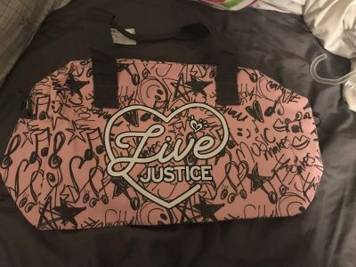 Justice duffel bag. Brand new with tags