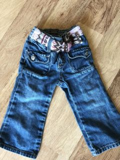 18-24 month old navy jeans with built in belt