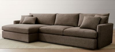 Crate&Barrel Sectional Sofa with Detachable Chaise