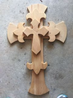 Unfinished wood crosses. Set of 3
