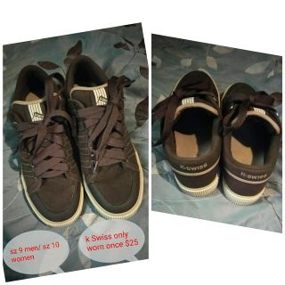 Unisex chocolate and brown k Swiss shoes