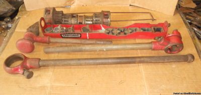 Craftsman Ratcheting Pipe Hand Threader With Dies And Carrier