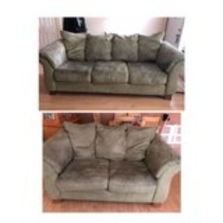 microfiber couch & loveseat