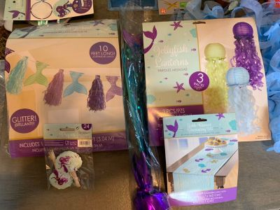 Mermaid birthday supplies used once