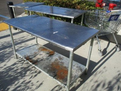 "S/S Work Table 60""W x 30""D w/ Undershelf RTR#8051519-20,21"