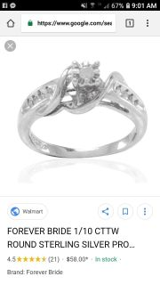 1/10 ct. Forever bride promise ring