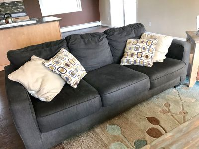 FREE - Charcoal Gray Couch