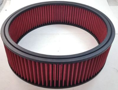"Find 14"" x 4"" 14x4 Washable Resuable High Flow Air Filter Element Chevy Ford Mopar V8 motorcycle in Chatsworth, California, United States, for US $25.99"