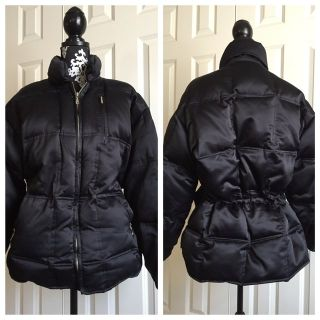 Womens LARGE Down Puffer Coat